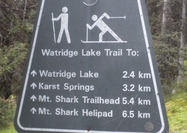 2Watridge Lake Trail Sign 2